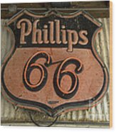 Phillips 66 Vintage Sign Wood Print