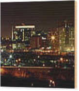 Philly Night Panoramic Wood Print