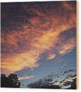 Phoenix In The Sky Wood Print