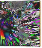 Phoenix Rising . Square . S3.s9 Wood Print by Wingsdomain Art and Photography