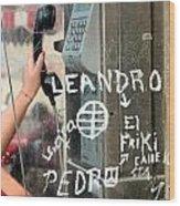Phone Booth Wood Print