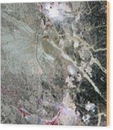 Phosphate Mines, Jordan Wood Print
