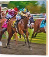 Photo Finish Wood Print by Richard Marquardt