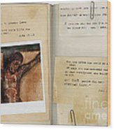 Photo Of Crucifix With Bible Verses. Wood Print
