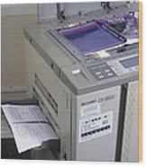 Photocopier Wood Print
