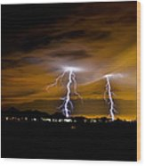 Phx Night Lightning #1 Wood Print