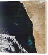 Phytoplankton Bloom Off Nambia Wood Print