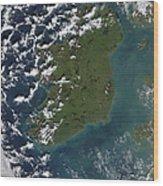 Phytoplankton Bloom Off The Coast Wood Print