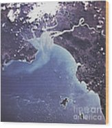 Phytoplankton Or Algal Bloom Wood Print