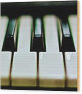 Piano Keys Wood Print