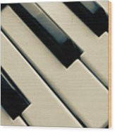 Piano Keys Wood Print by Dm909