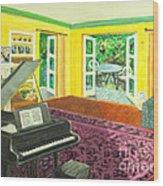 Piano Room Variation I Wood Print