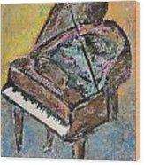 Piano Study 2 Wood Print