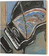 Piano With Spiky Heel Wood Print