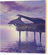 Piano's Lesson Wood Print