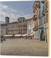 Piazza Grande - Locarno Wood Print