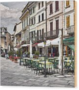 Piazza San Guilio Wood Print