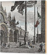 Piazza San Marco In Venice Wood Print