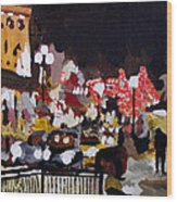 Piccadilly Night Wood Print