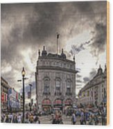 Piccadilly Panorama Wood Print