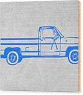 Pick Up Truck Wood Print