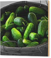 Pickling Cucumbers Wood Print by Ms Judi