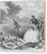 Picnic, 1859 Wood Print