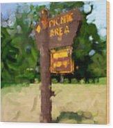 Picnic Area Wood Print