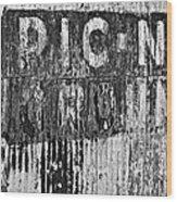 Picnic Ground Monochrome Wood Print