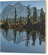 Picture Lake - Heather Meadows Landscape In Autumn Art Prints Wood Print