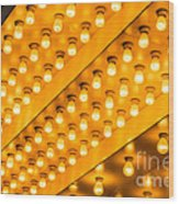 Picture Of Theater Lights Wood Print by Paul Velgos