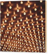 Picture Of Theater Marquee Lights Wood Print by Paul Velgos