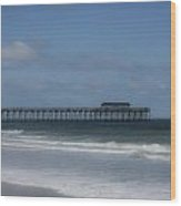 Pier At Myrtle Beach State Park Wood Print