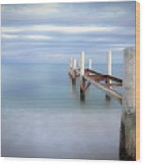 Pier In Pampelonne Beach Wood Print by Dhmig Photography