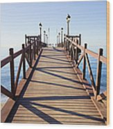 Pier On Costa Del Sol In Marbella Wood Print