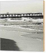 Jacksonville Beach Florida Pier 1997 Wood Print
