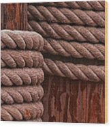 Pier Ropes II Wood Print
