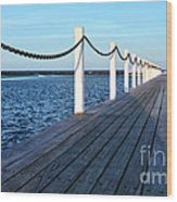 Pier To The Ocean Wood Print