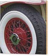 Pierce Arrow Wheel Wood Print