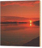 Pierson Lake Sunrise Wood Print