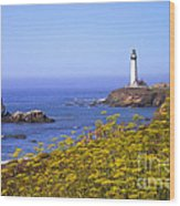 Pigeon Point Lighthouse California Coast Wood Print