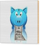 Piggy Bank Wood Print