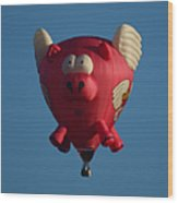 Pigs Do Fly Wood Print