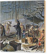 Pilgrims: First Winter, 1620 Wood Print