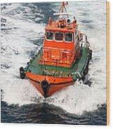 Pilot Boat - Dardanelles-canakkale Wood Print