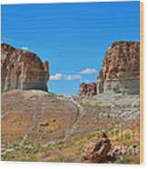 Pilot Butte Rock Formation Iv Wood Print