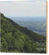 Pilot Mountain Wood Print