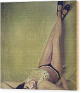 Pin Me Up Wood Print by Laurie Search