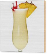 Pina Colada Cocktail Wood Print by Elena Elisseeva