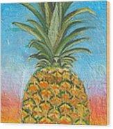 Pineapple Sunrise 2 Or Pinapple Sunset 2 Wood Print